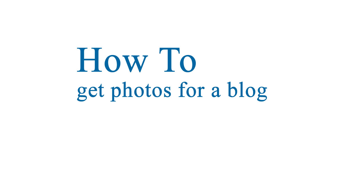 Where can I get photos for my blog?