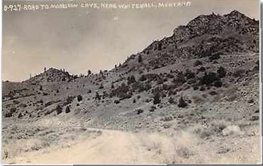 Old Postcard of Road to Morrison Cave