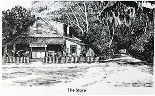 Historic Photo of The Store - Map of Old Town Bluffton - Hilton Head Island - design42