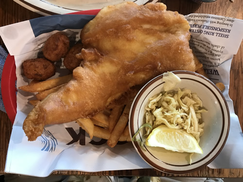 Fish and Chips - World Famous Hudson's Seafood House on the Docks - Hilton Head Island