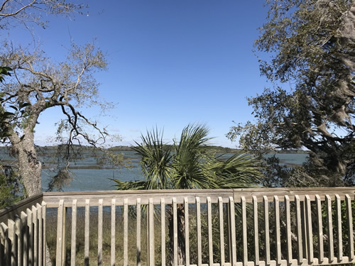 See across to Pinckney Island from the overlook - Green's Shell Enclosure Heritage Preserve – Hilton Head Island