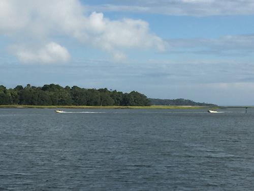 Boats in Skull Creek by Pinckney Island - Pinckney Island - Hilton Head Island