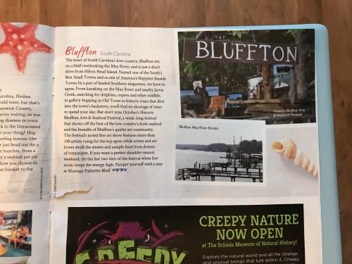 Bluffton South Carolina article from, I think, AAA magazine.