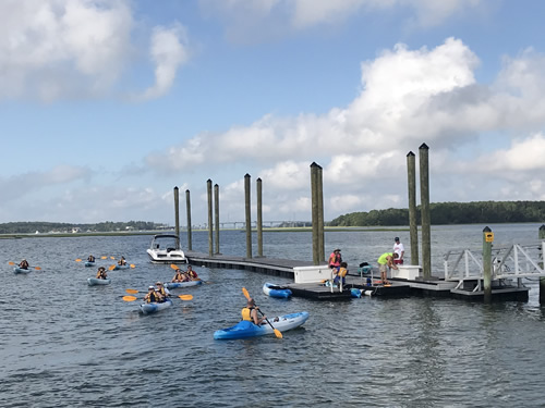 Kayakers returning - Bluewater Resort on Hilton Head Island