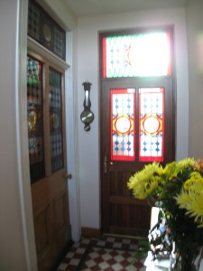 Stained Glass in Ardaghmore Guest House entry