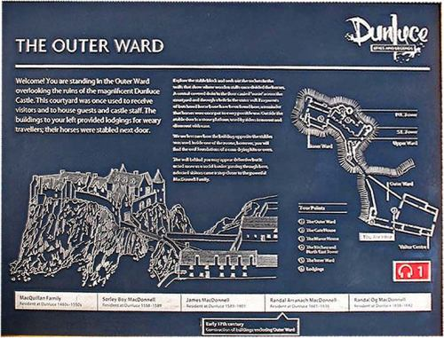The Outer Ward Sign, Dunluce Castle