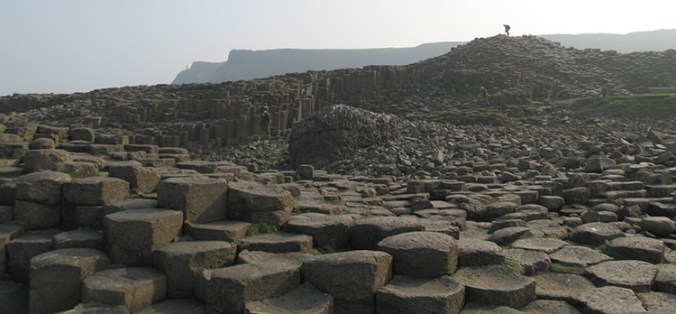 Giant's Causeway is a World Heritage Site in County Antrim on the northeast coast of Northern Ireland