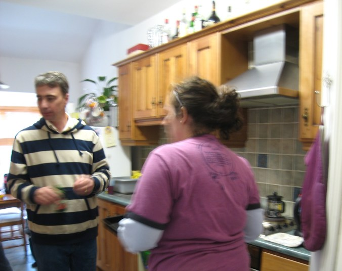 Hospitality! I was invited back for dinner! Somewhere near Tallaght, Dublin, Ireland