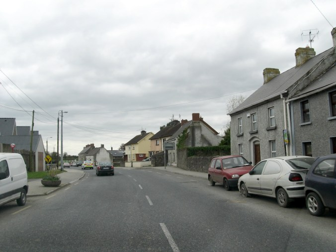 Driving through a village north of Thomastown on the way to Dungarvan