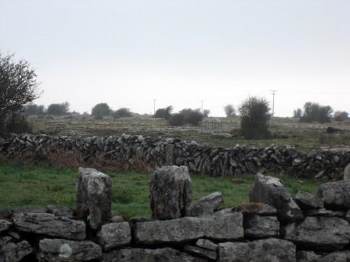 Rock walls on the Burren, Ireland