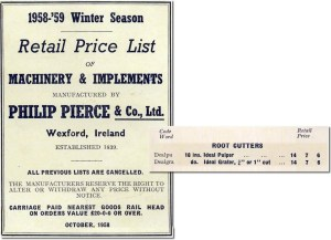 Philip Pierce & Co Ltd. Catalog lists Ideal Pulper and Ideal Grater.