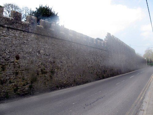 The walls around Birr Castle in the town of Birr in County Offaly, Ireland