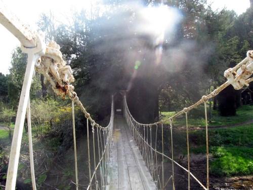 Birr Castle Wrought Iron Suspension Bridge Built 1820 crosses the River Camcor