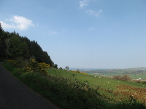 Exploring the mountain roads on the way to Ballycastle, Ireland
