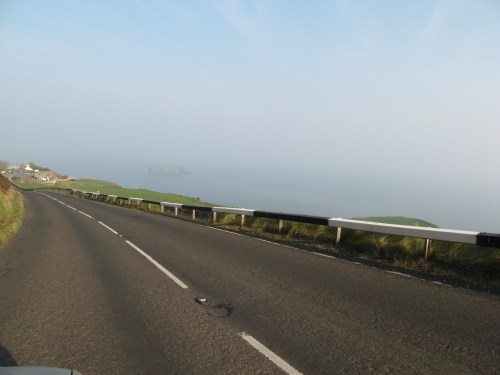 Moyle, about a mile before Carickarede on the Antrim Coast