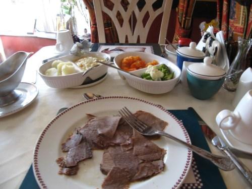 Dinner at Arch House Tullyhona, Florencecourt, Enniskillen, County Fermanagh, Ireland