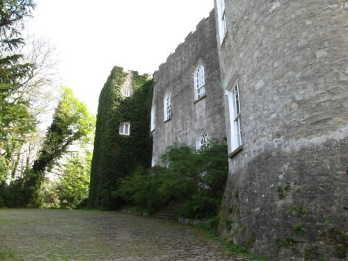 Front wall of Leixlip Castle.