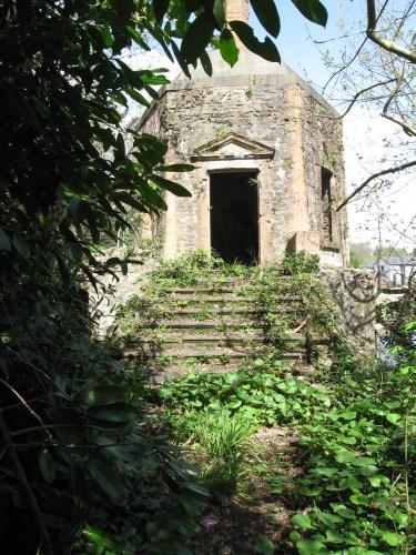The hexagonal Folly was build of random stone and brick dressings