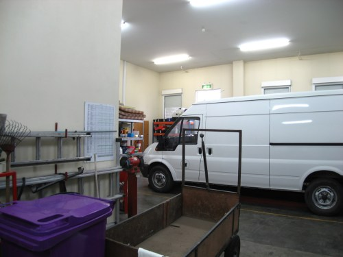 One of the trucks that delivered literature to the various congregations in Ireland