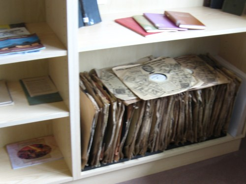 Some of the recorded talks from the 1940s in the library at Ireland's Bethel