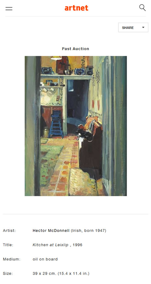 Kitchen at Leixlip, 1996 Past Auction at Artnet Auctions - A Different Visit to Ireland