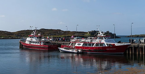 Ferries at the pier of Inishbofin Photo by Andreas F. Borchert - Islands of Ireland's Western Connemara – Ireland, A Different Visit
