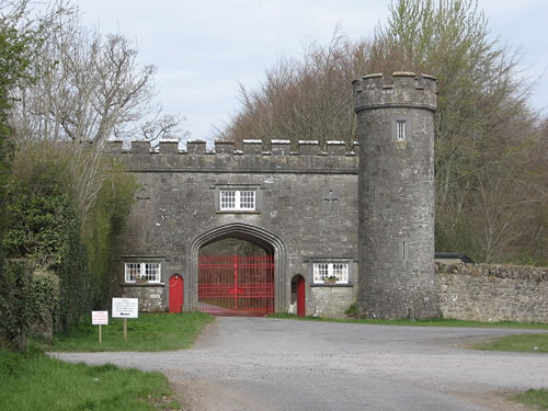 Castellated Gate Lodge at Tullynally Castle, Castlepollard, Co. Westmeath, Ireland Designed by architect James Shiel, c. 1820 Photo by KinturkMan