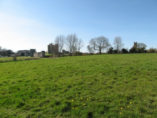 Trim Castle built by Hugh de Lacy, seen from near the old wall
