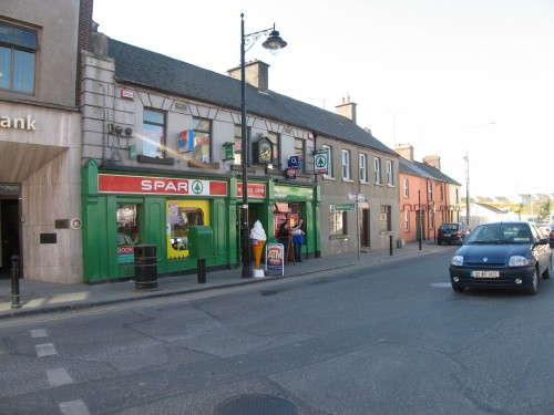 Spar on narrow streets of Trim