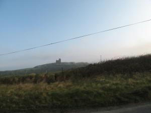 Ballinalacken Castle near the intersection of R477 and R479, near Lisdoonvarna, Fanore and Doolin in Killilagh parish, County Clare, Ireland.