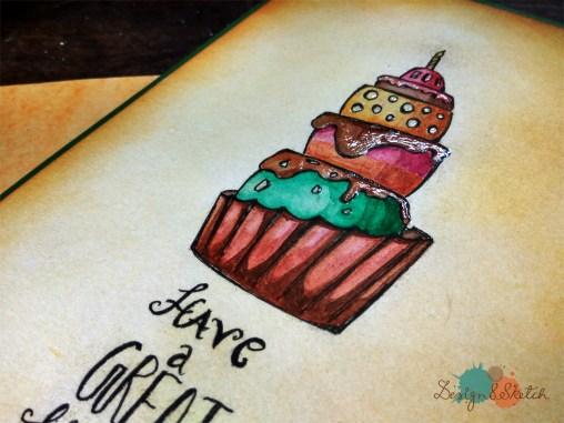 giant cupcake birthday card
