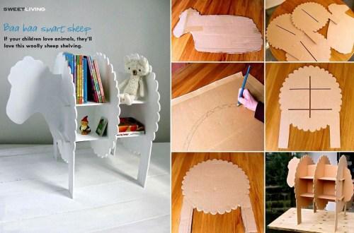 DIY - schaap - boeken - boekenkastje - kastje - kast - sheep - Designaresse
