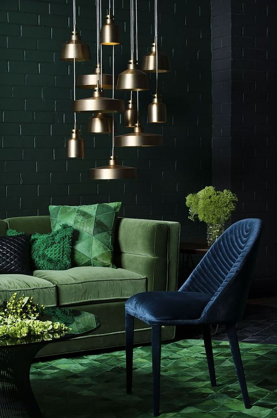Groen interieur design woonkamer