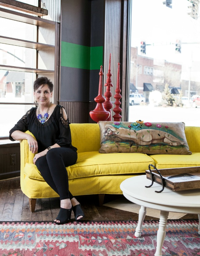 Kellie in her design studio | Design Asylum Blog