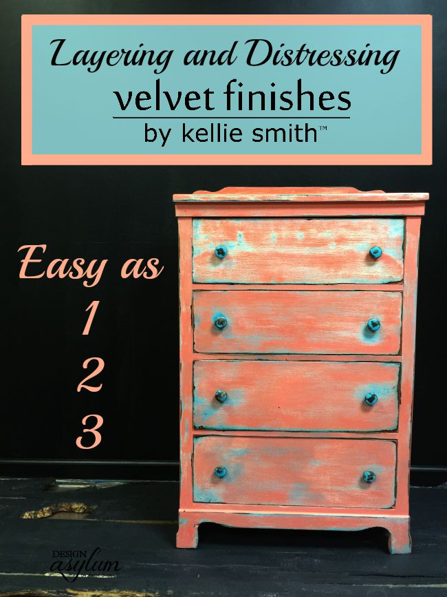 furniture painting techniquesLayering and Distressing with Velvet Finishes  Design Asylum Blog