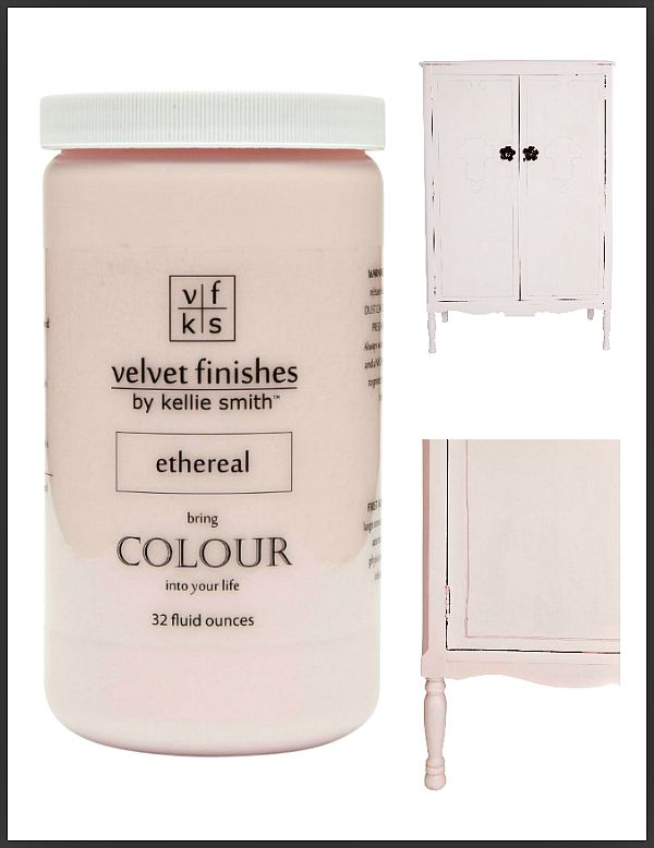 Paint it Pink with Velvet Finishes Ethereal | light, airy, tenuous, celestial. The perfect shade of pastel pink!