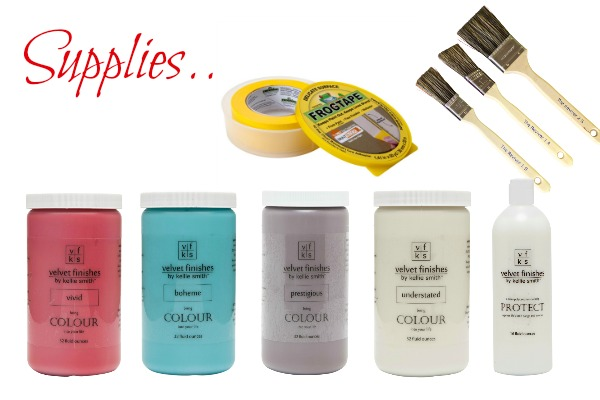 Ugly refrigerator got you down? Paint it with Velvet Finishes! Here's the supplies you will need.