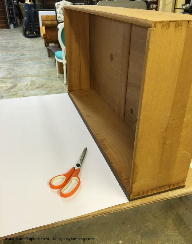 How to decoupage drawer fronts in the August Fab Furniture Flippin' contest featuring D. Lawless Hardware! You won't believe how easy this project was!