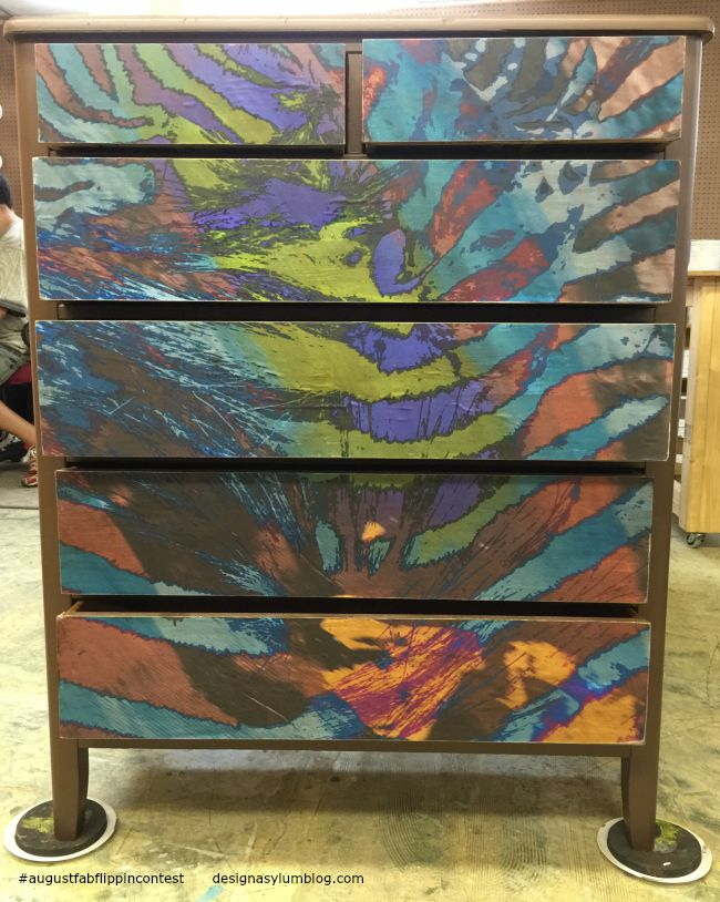 Learn how to decoupage furniture in the August Fab Furniture Flippin' contest featuring D. Lawless Hardware! You won't believe how easy this project was!