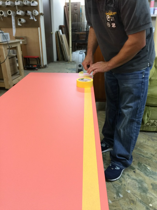 Furniture Upcycle Friday. Furniture makeover with a custom Velvet Finishes color.