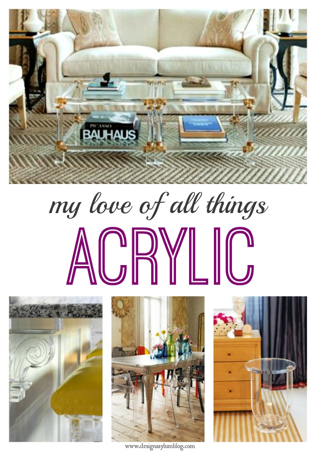 Beautiful, sexy and the epitome of good design. Sharing my love of all things Acrylic.
