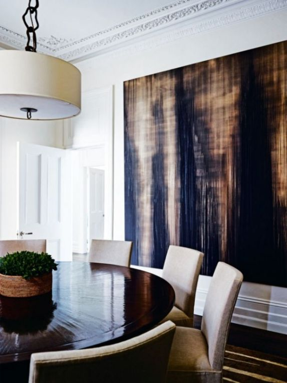 brown and black oversized art