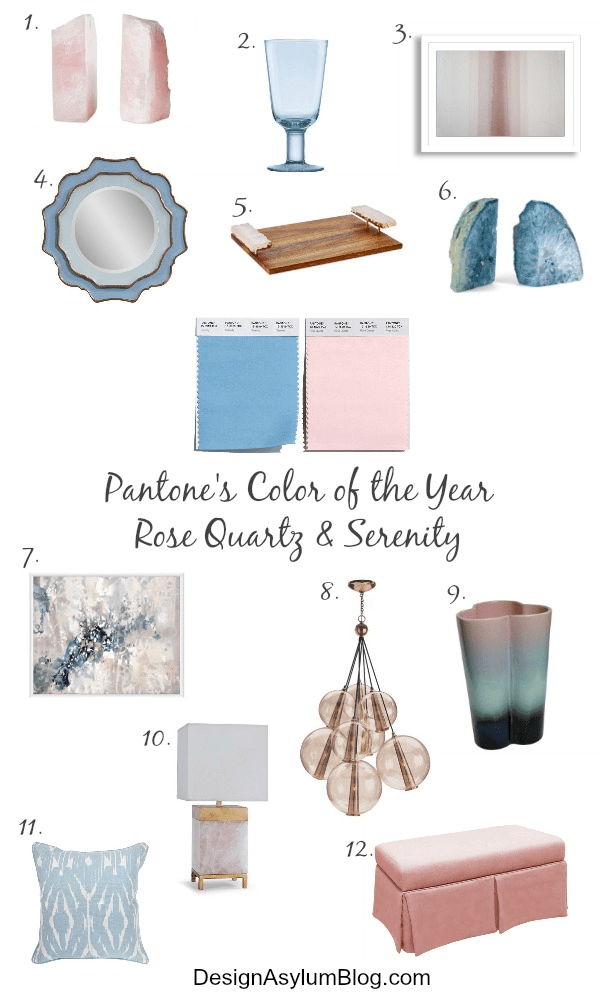 Pantone took a softer take on color for 2016: For the first time, the blending of two shades – Rose Quartz and Serenity are chosen as the PANTONE Color of the Year! Let's colour our world with Pantone's Color of the Year 2016 Inspirations - Rose Quartz and Serenity.