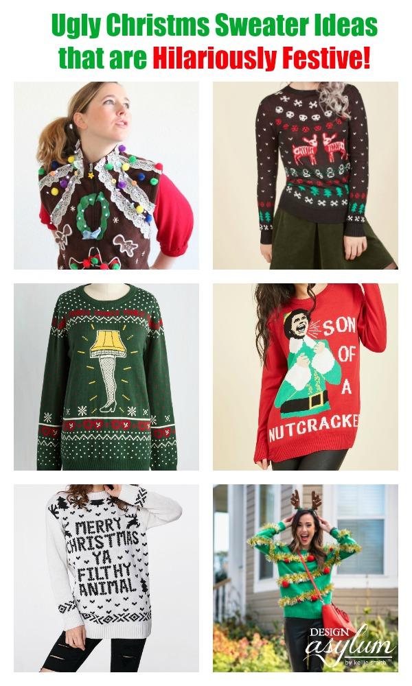 Searching for an Ugly Christmas Sweater? Here are a few Ugly Christmas Sweater Ideas to wear to that Tacky Sweater Party!