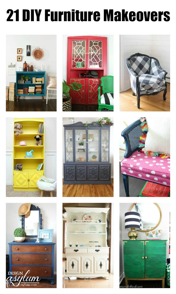 21 DIY Furniture Makeovers using Velvet Finishes. Refinishing thrift store, roadkill rescues, & garage sale finds is a rewarding task How to DIY Furniture