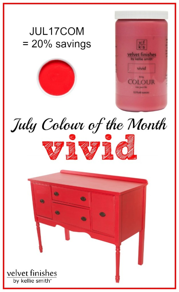 Paint it Red with Velvet Finishes July Colour of the Month: Vivid! Receive 20% savings at checkout using code JUL17COM - red furniture & design inspiration!