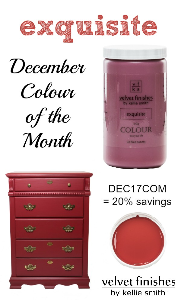 Paint it Red with Velvet Finishes December Colour of the Month, Exquisite. Use code DEC17COM to receive 20% savings. Red furniture and interiors!