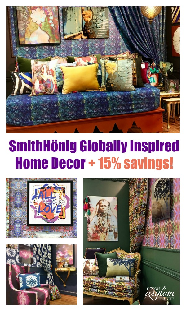 SmithHonig - globally inspired home decor. View our experience at AmericasMart Atlanta and save 15% at SmithHonig. Bohemian and Eclectic home decor.