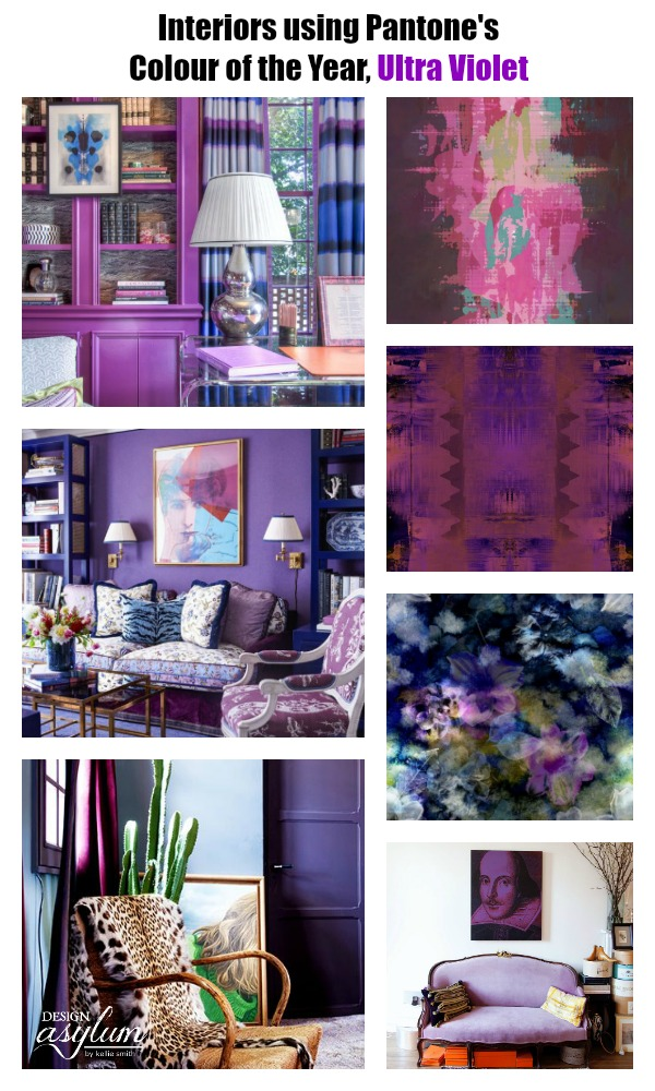 10Interiors using Pantones Colour of the Year Ultra Violet