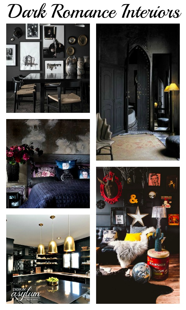 Dark romance is a luxurious and moody style that appeals to the senses through fabrics, patterns, texture, and moody colors. Take a look at these dark, romantic, and sexy interiors.